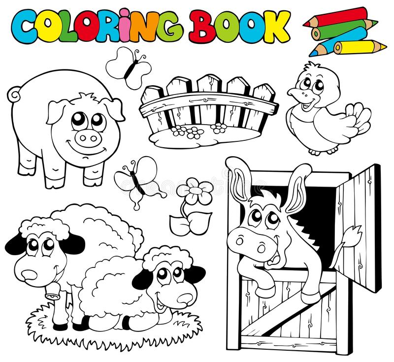 Download Coloring Book With Farm Animals 2 Stock Vector - Image: 16465572