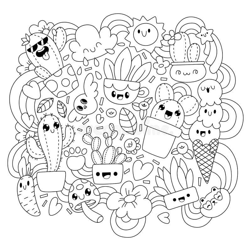 Cute Kawaii Dessert Stock Illustration Illustration Of Cute