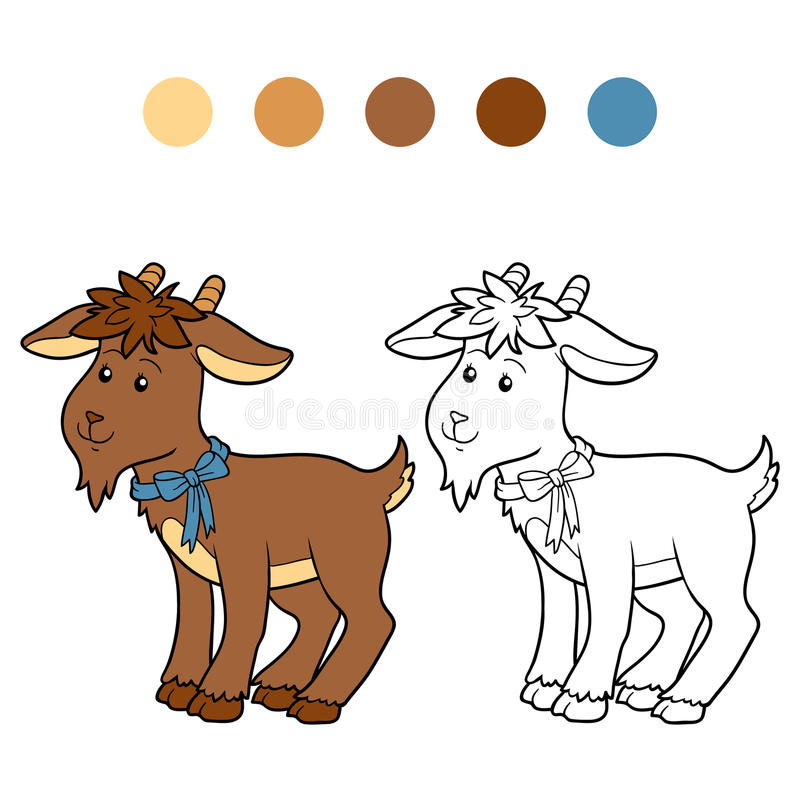 Coloring book (goat) royalty free illustration