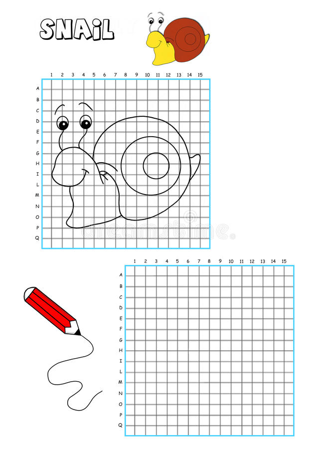 Coloring Book - Grate 7 Royalty Free Stock Photo