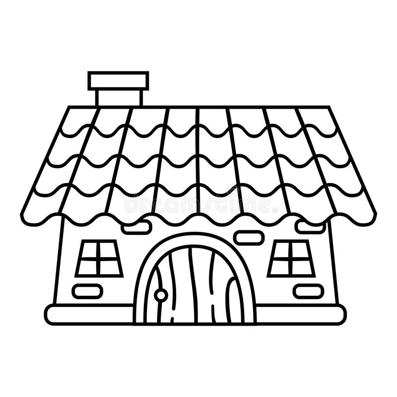 Coloring book, House vector illustration