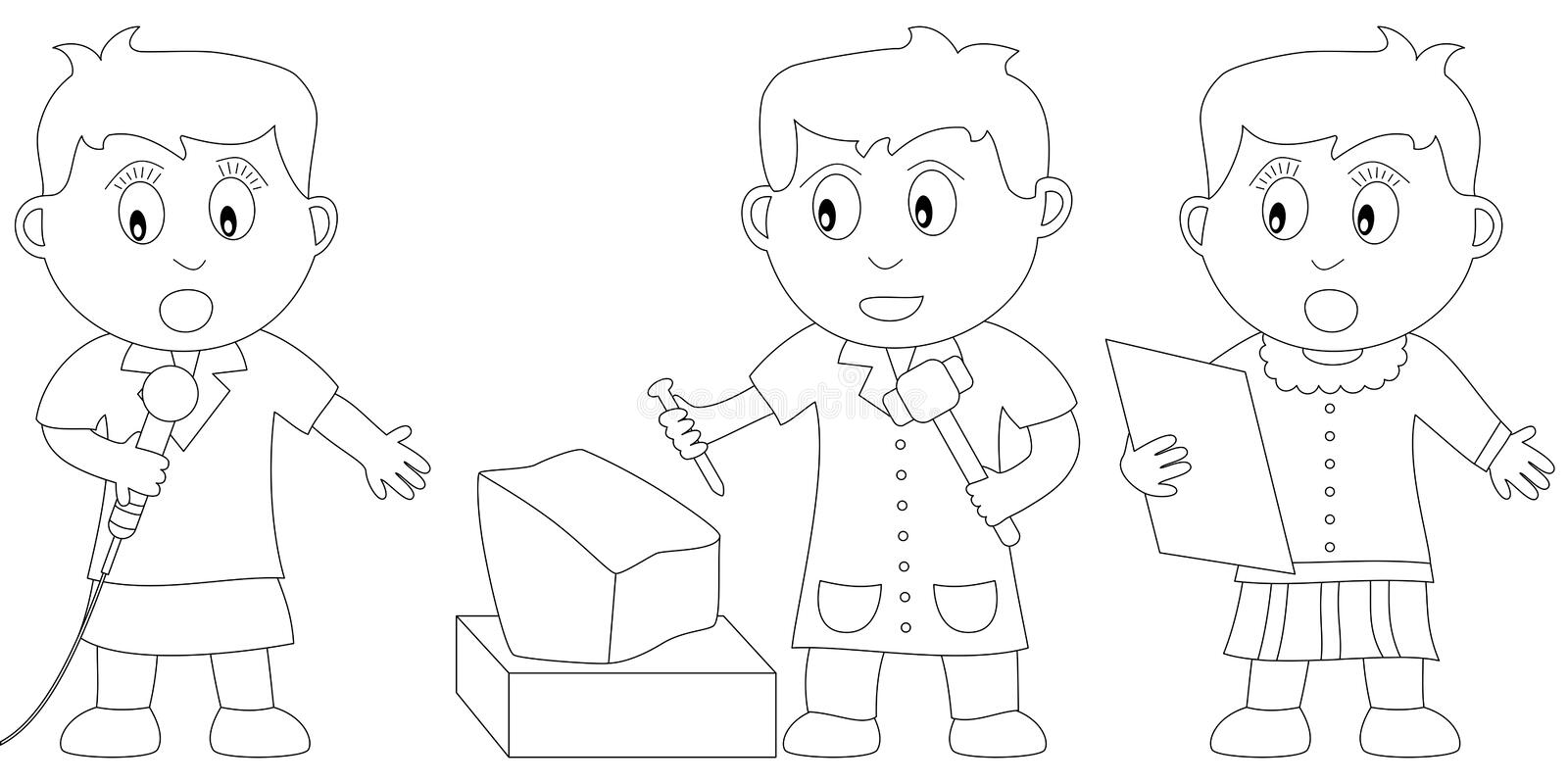 Coloring Book For Kids [15] Royalty Free Stock Photo
