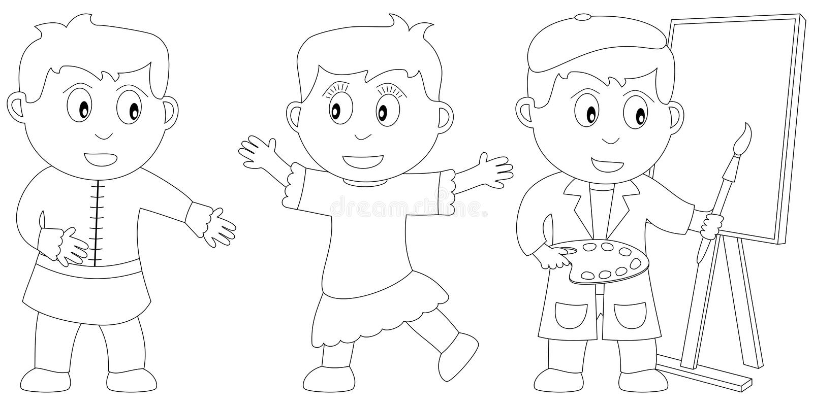 Coloring Book for Kids [16] royalty free illustration