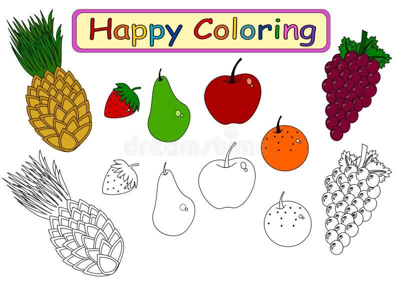Coloring Fruits Kids Stock Illustrations – 270 Coloring Fruits Kids Stock  Illustrations, Vectors & Clipart - Dreamstime