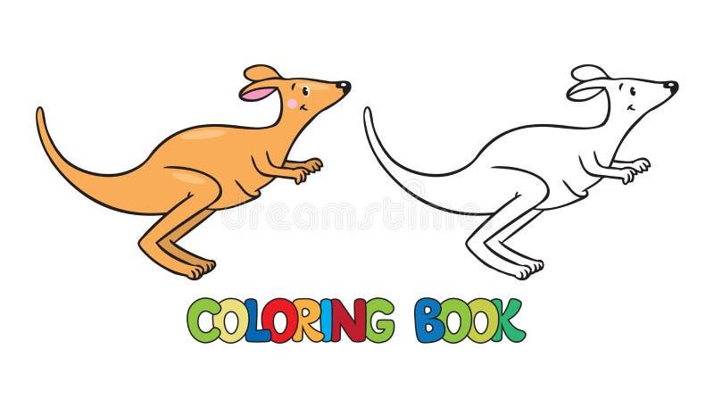 Download Coloring Book Of Little Kangaroo Stock Vector