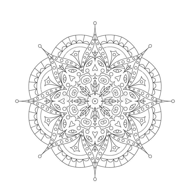 download coloring book mandala circle lace ornament stock photo image of napkin ornament