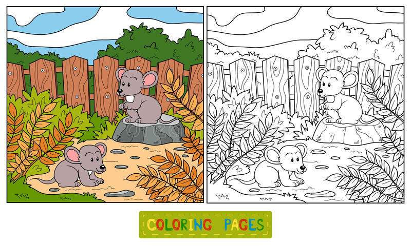coloring book mouse children