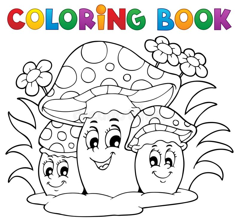 Coloring book mushroom stock vector. Illustration of drawing - 29357734