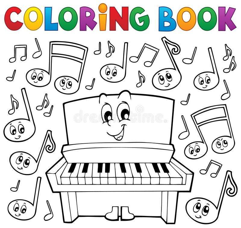 Coloring Book Music Theme Image 1 Stock Vector - Illustration ...