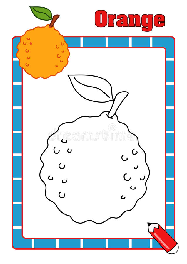 Coloring book, orange royalty free stock photography