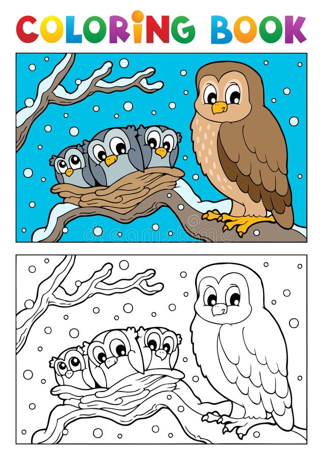 Download Coloring Book Owl Theme 1 Royalty Free Stock Images