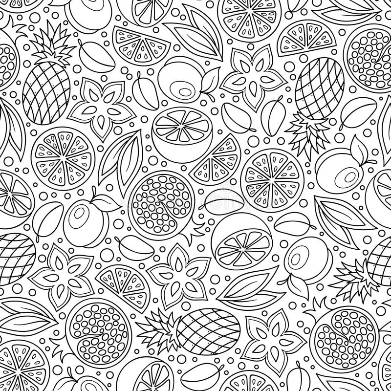 Download Coloring Book Page Adult Antistress Therapy Stock Vector