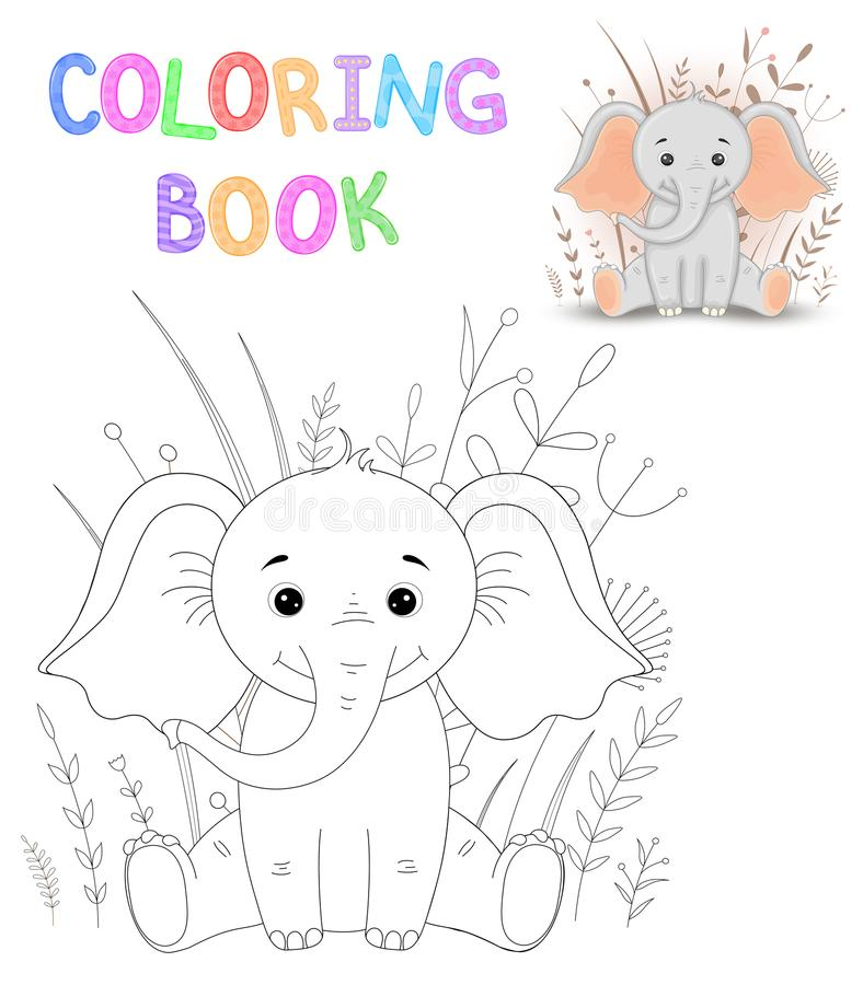 Coloring book or page for children of school and preschool age. Developing children s coloring. Vector cartoon stock illustration