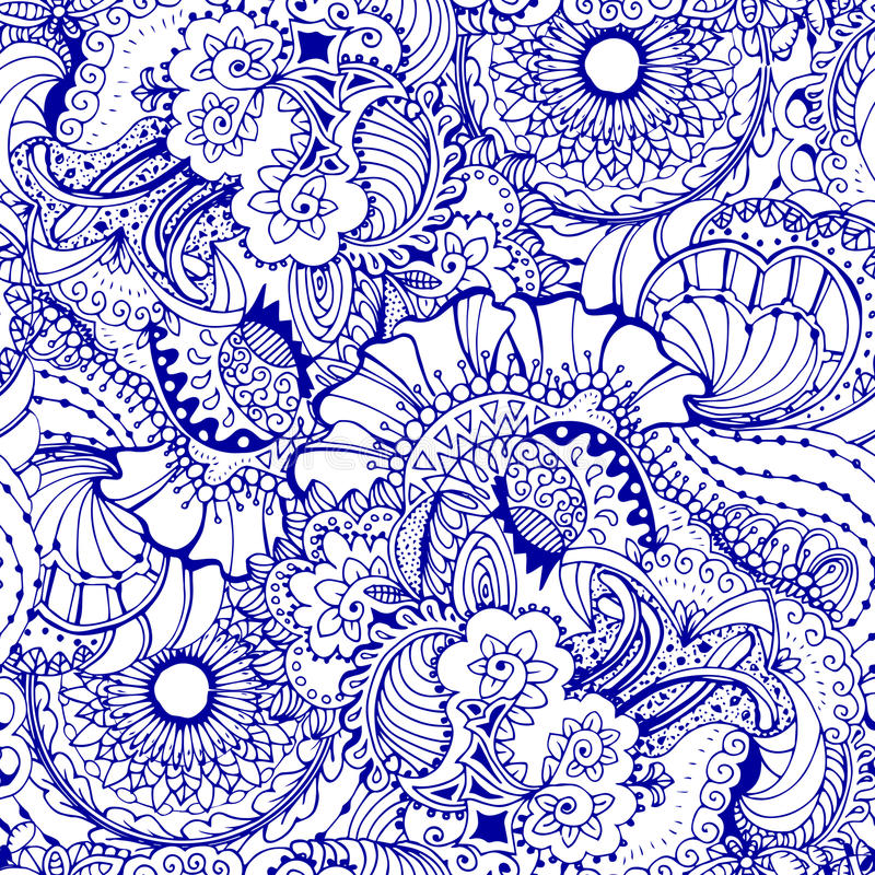Coloring book page design with pattern. Mandala ethnic ornament. royalty free illustration