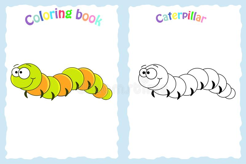 Coloring book page for preschool children vector illustration