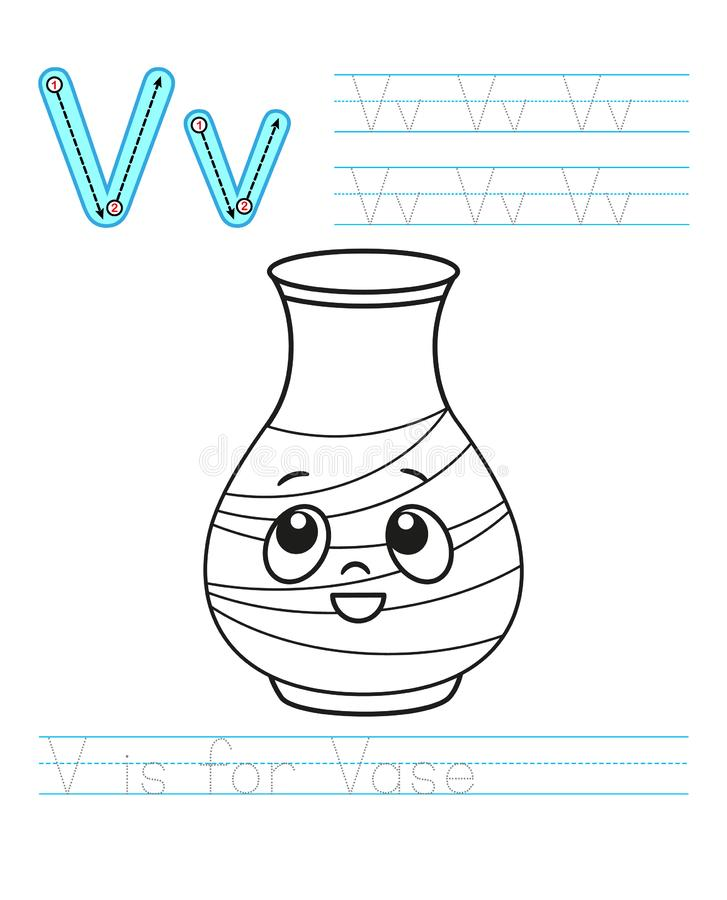 Coloring book page. Printable worksheet for kindergarten and preschool. Exercises for study English. Vector coloring book alphabet. Simple level of difficulty vector illustration