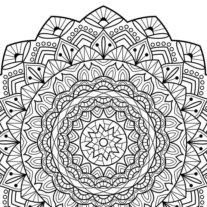 Download Coloring Book Pages Mandala Indian Antistress Medallion Abstr Stock Vector