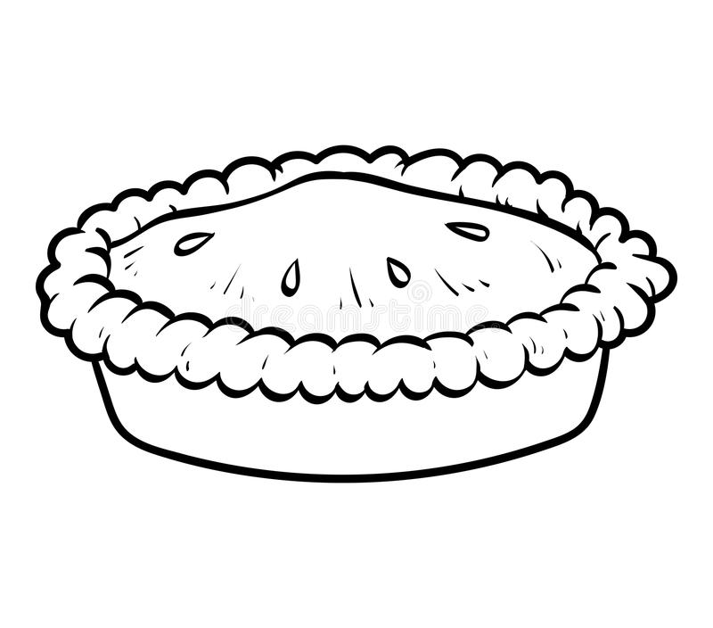 Coloring book, Pie royalty free illustration