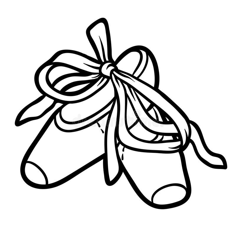 Coloring book, Pointe. Coloring book for children, Pointe royalty free illustration