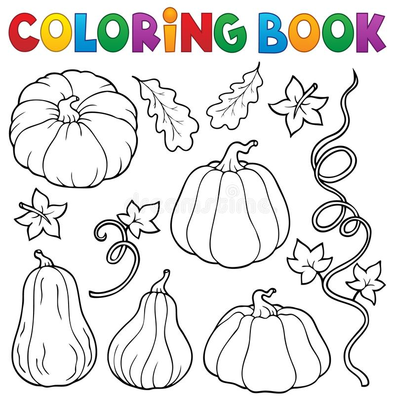 Free Coloring Book Pumpkins Collection 1 Royalty Free Stock Photography - 159733567