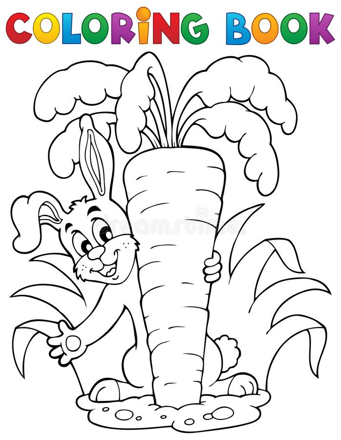 Free Coloring Book Rabbit Theme 1 Stock Photography - 28461722
