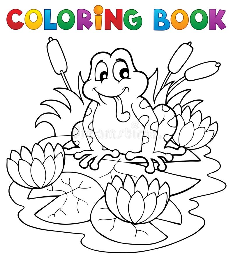 Coloring Book River Fauna Image 2 Stock Photography