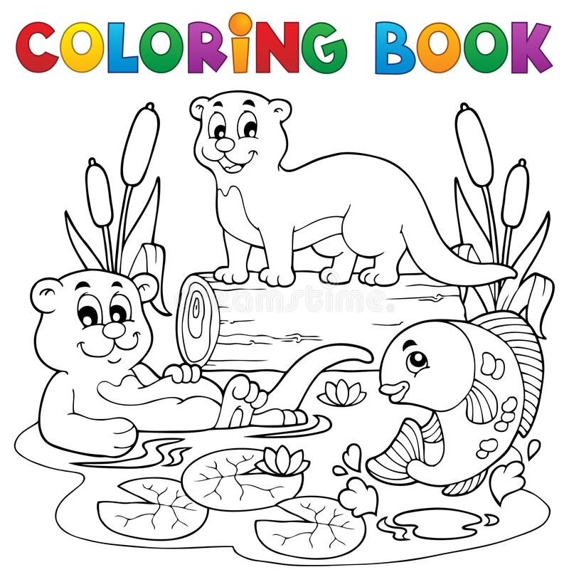 Download Coloring Book River Fauna Image 3 Royalty Free Stock Photography - Image: 28783687