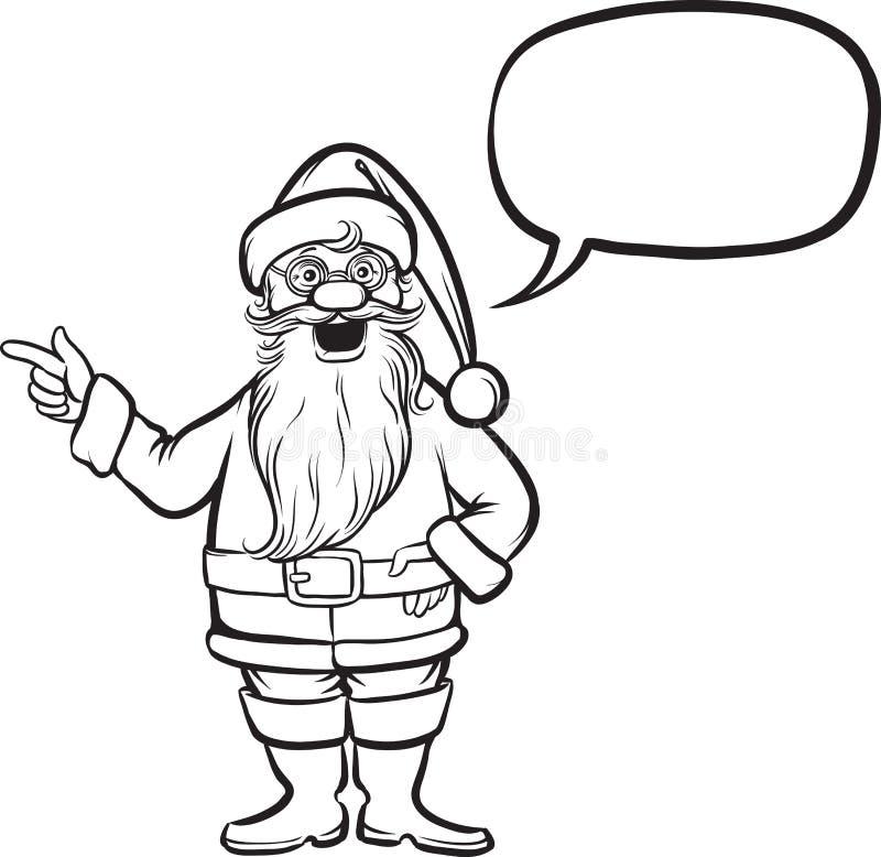 download coloring book santa claus pointing stock vector illustration of mustaches book 87559464 - Coloring Book Santa