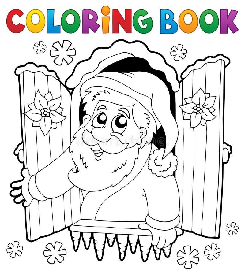 Coloring book Santa Claus thematics 5 royalty free illustration
