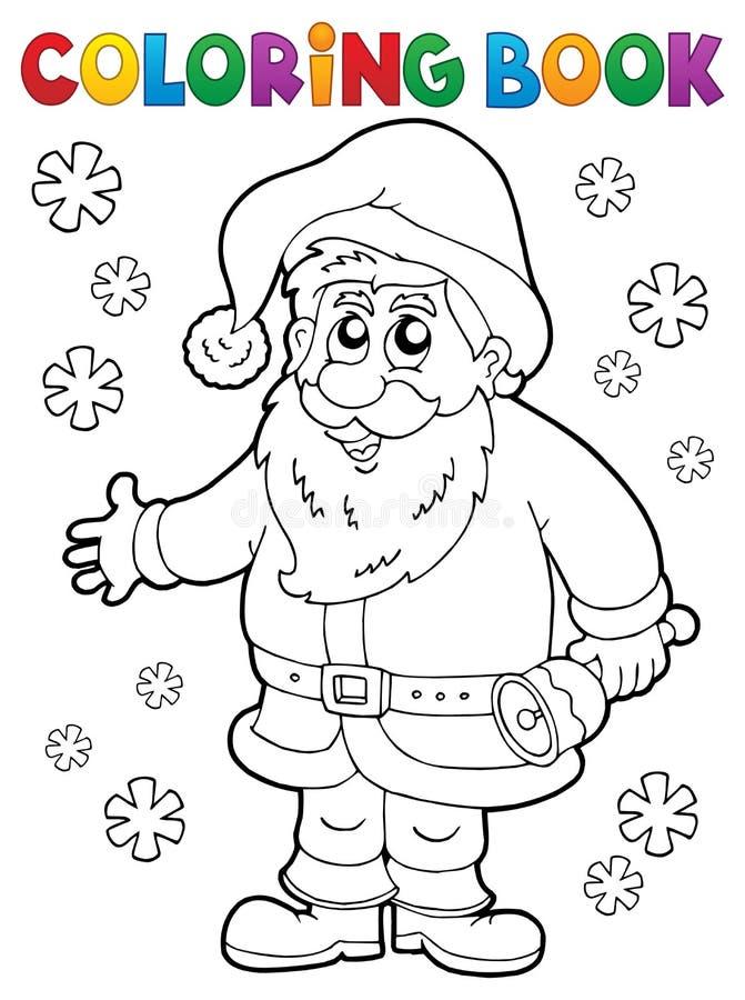 Coloring book Santa Claus thematics 4 stock illustration