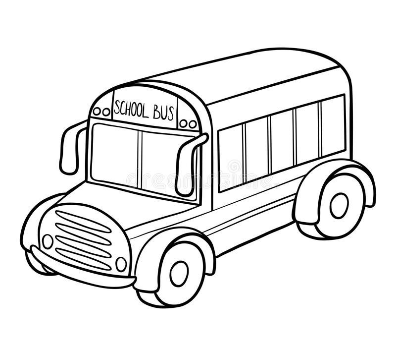 - Coloring Book, School Bus Stock Vector. Illustration Of Color - 116389333