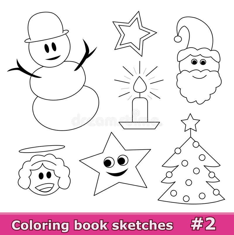 Download Coloring Book Sketches, Part 2 Stock Illustration - Image: 14385257