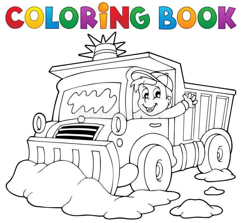 Download Coloring book snow plough stock vector. Image of maintenance - 34545675