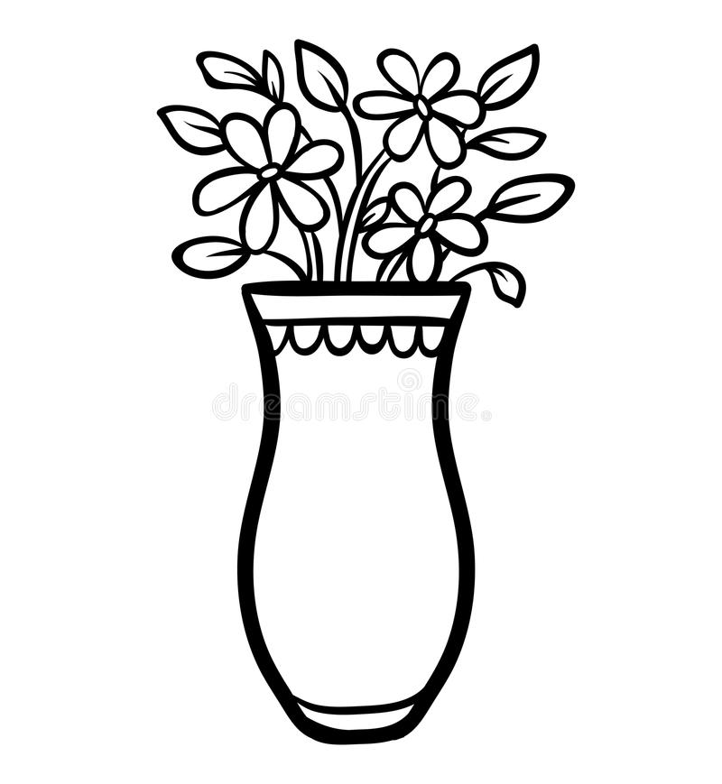 Coloring book, Vase. Coloring book for children, Vase stock illustration