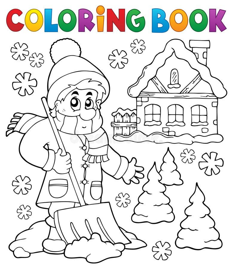 Free Coloring Book Winter Theme 3 Stock Image - 87426831