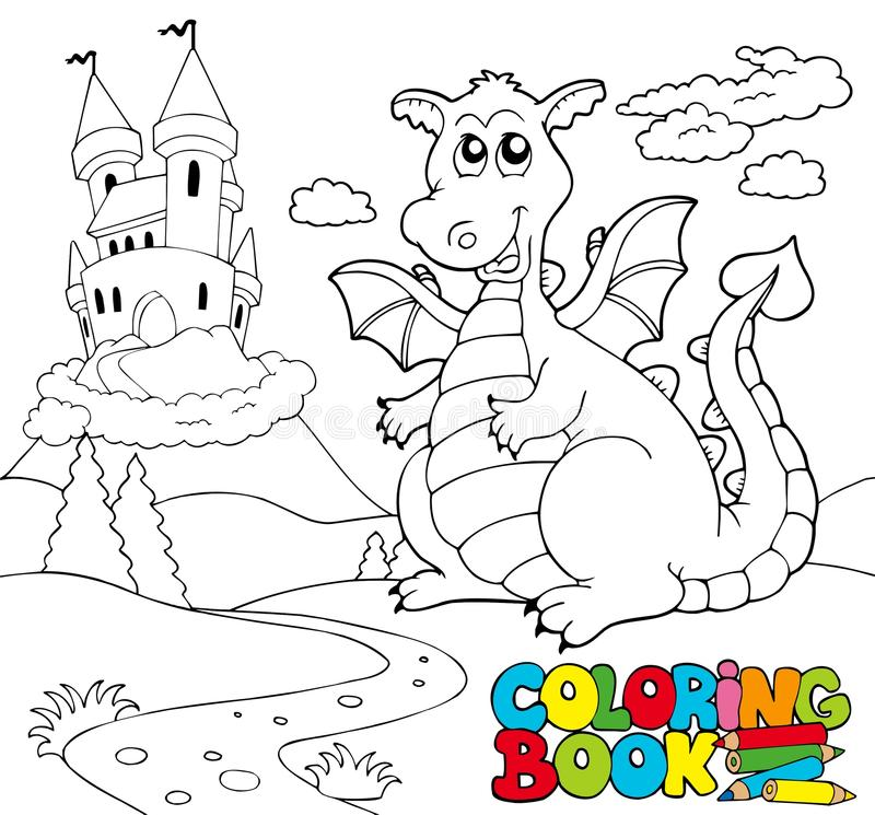 Free Coloring Book With Big Dragon 2 Stock Photo - 16542140