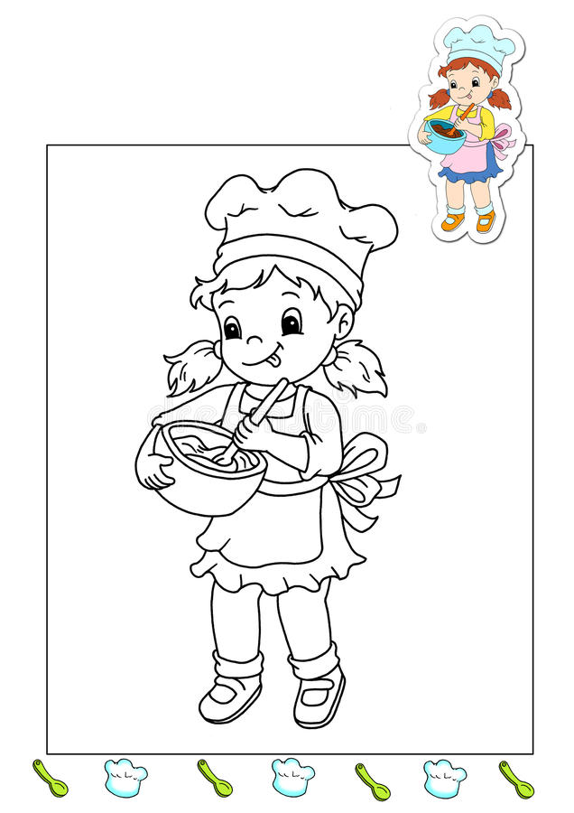 Download Coloring Book Of The Works 13 - Cook Stock Illustration - Image: 15019149