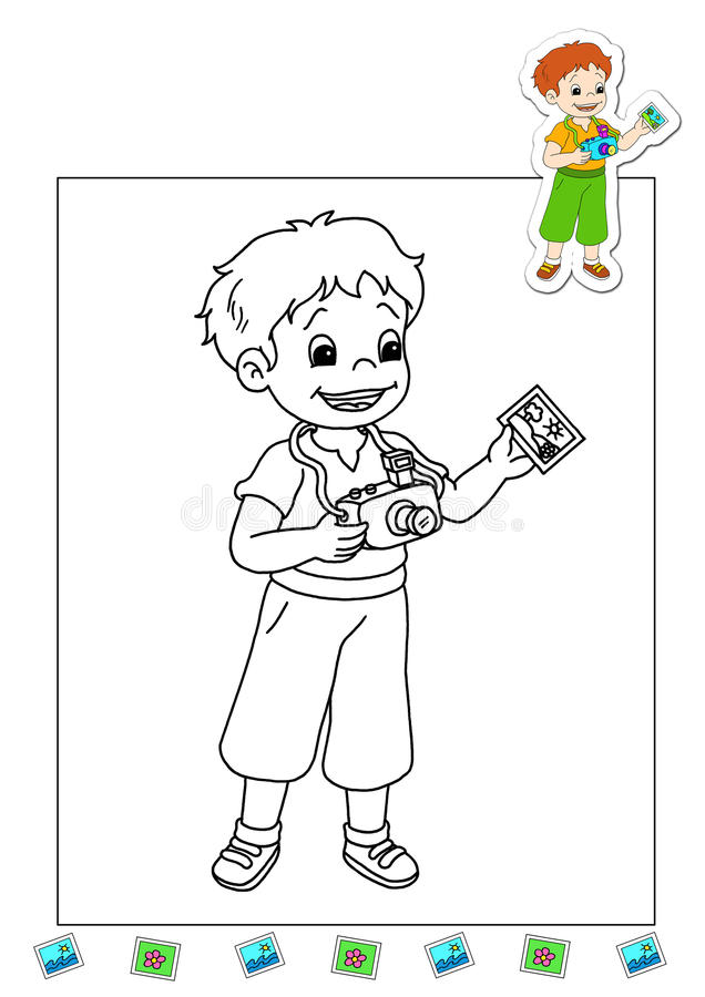 Download Coloring Book Of The Works 14 - Photographer Stock Illustration - Image: 15019164