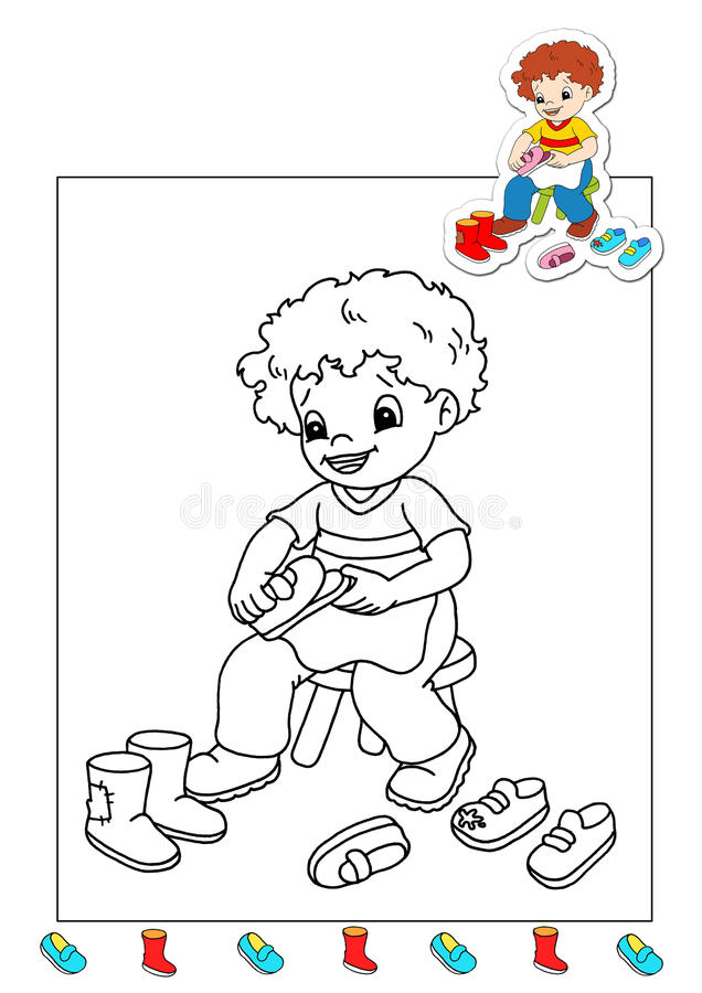 Coloring Book Of The Works 16 - Cobbler Stock Photography