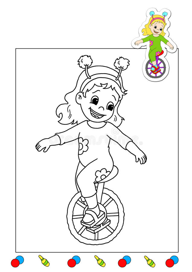 Download Coloring Book Of The Works 19 - Acrobat Stock Illustration - Image: 15020830