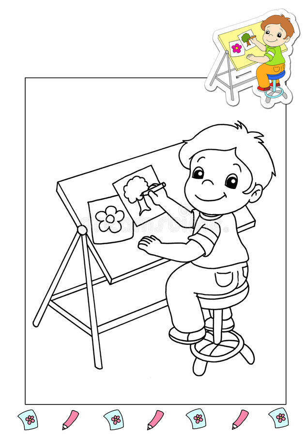 Download Coloring Book Of The Works 36 - Illustrator Stock Vector - Image: 15355814
