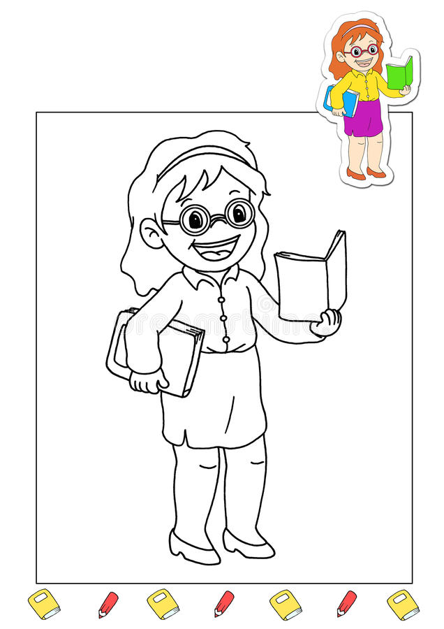 Coloring book of the works 7 - teacher