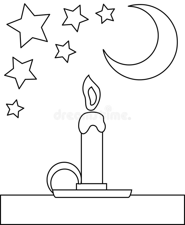 Download Coloring Candle Stock Vector Illustration Of Chocolate