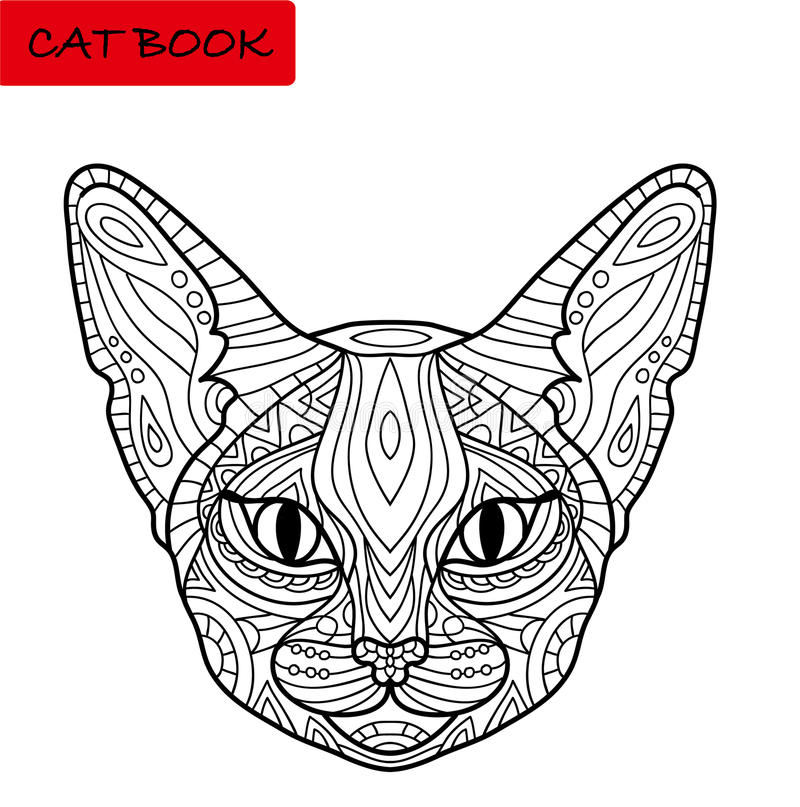 coloring cat book for adults amazing cat s head with tribal