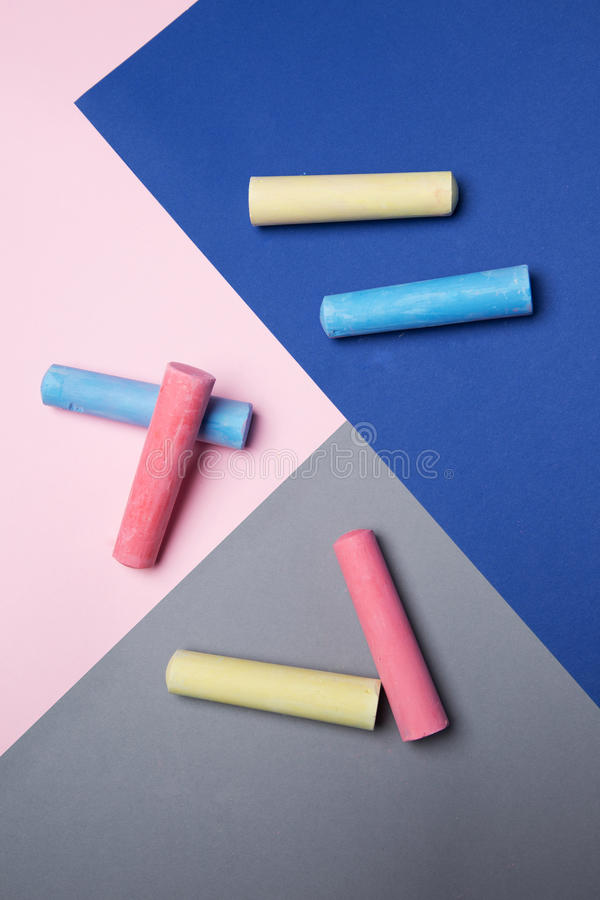 Coloring chalks royalty free stock image
