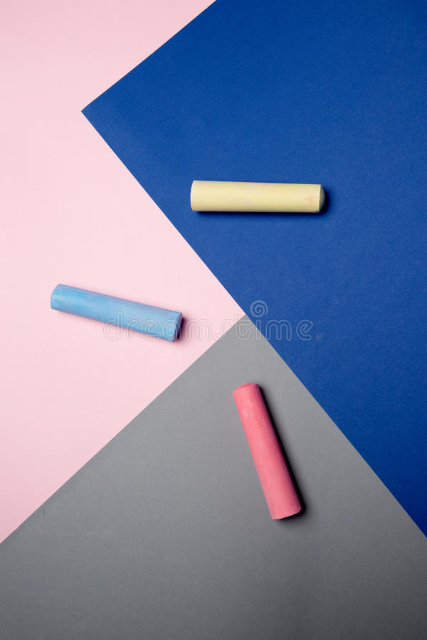 Coloring chalks royalty free stock images