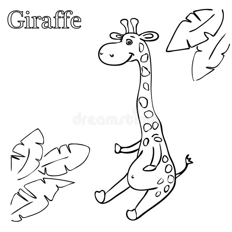 Giraffe Coloring Pages For Children EPS 10 Stock Illustration ...