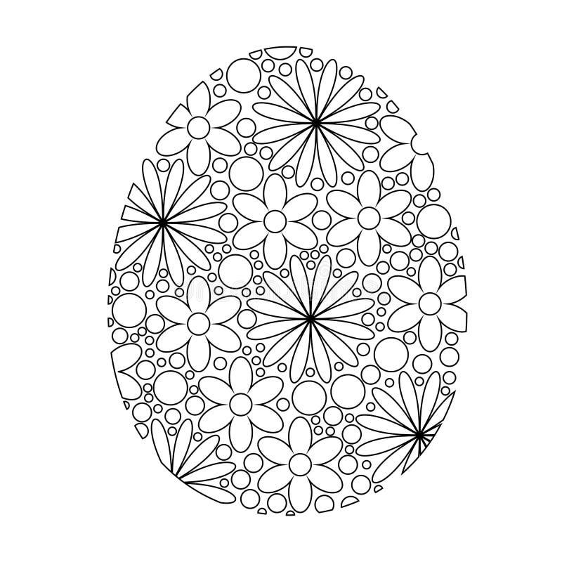 Coloring Easter Egg vector illustration