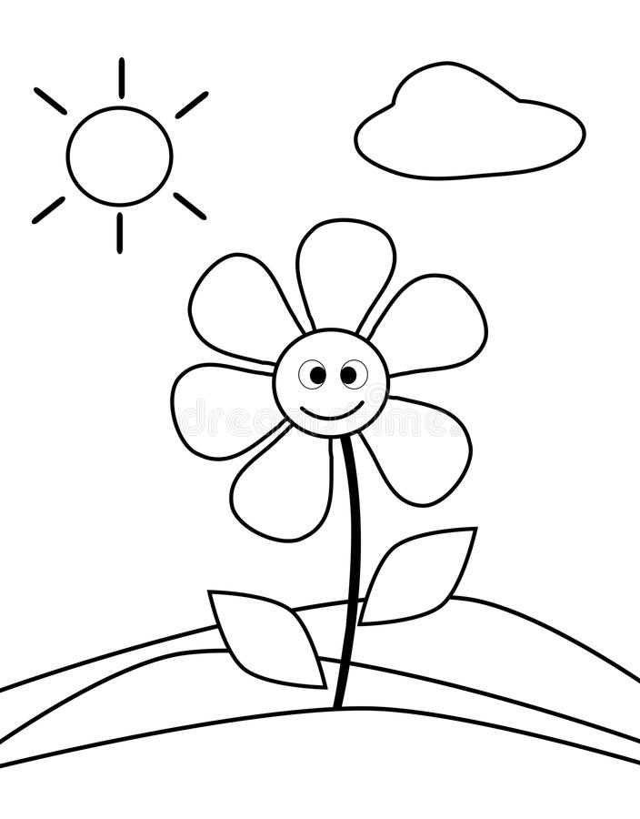 Coloring Worksheets For 3 Year Olds Coloring Flower Stock Images Image 32036224