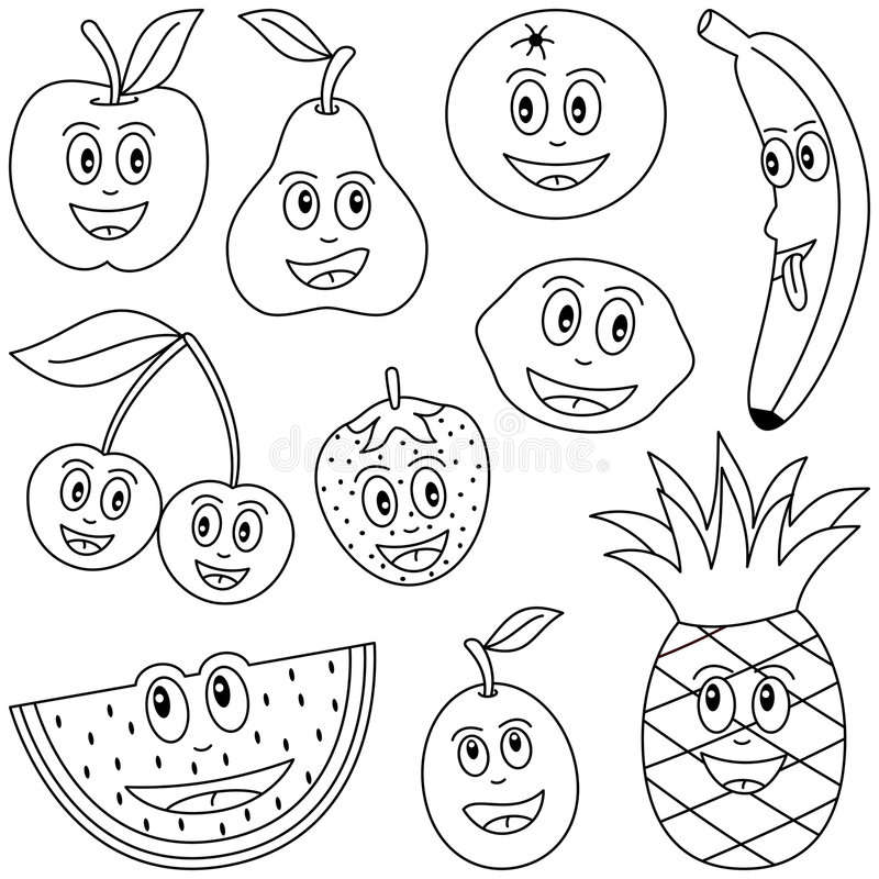 Free Coloring Fruit For Kids Royalty Free Stock Photo - 9150885